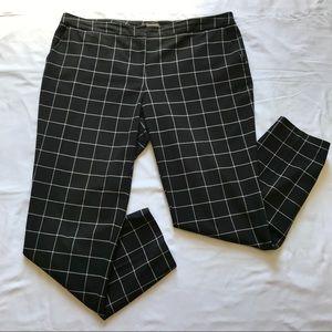 Vince Camuto black & white windowpane ankle pants